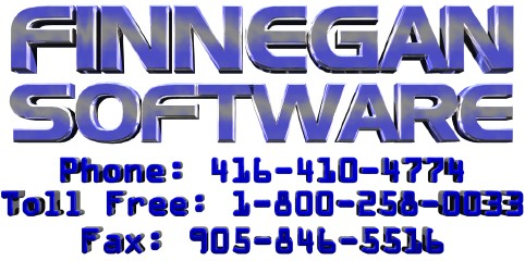 Finnegan Software 1-800-258-0033, phone 416-410-4774, fax 905-846-5516
